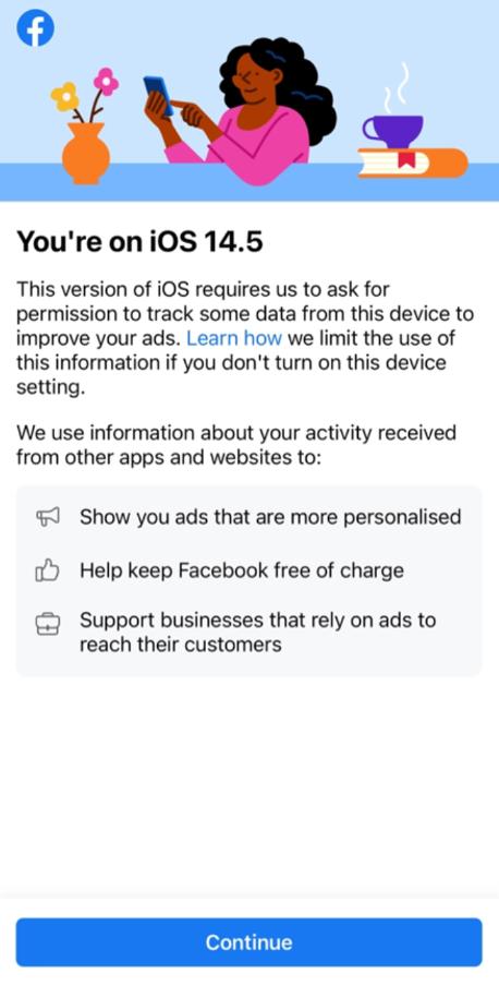 Facebook pre-permission screen