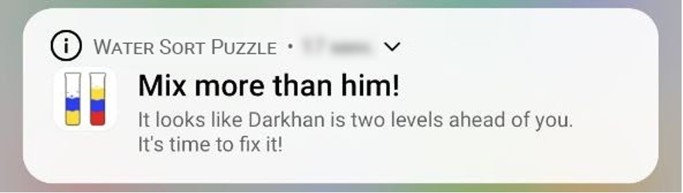 competition in push notifications