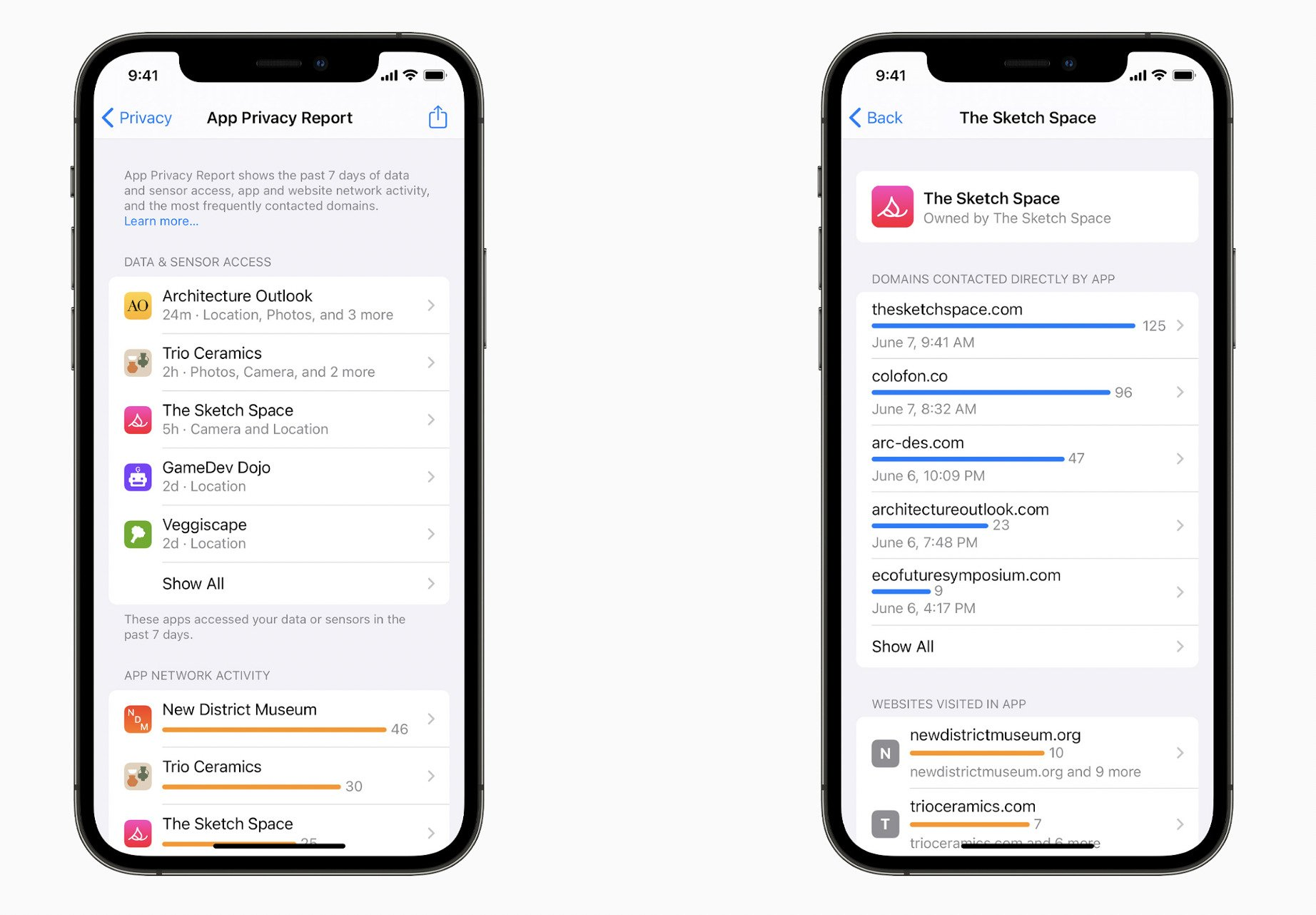 iOS 15 app privacy