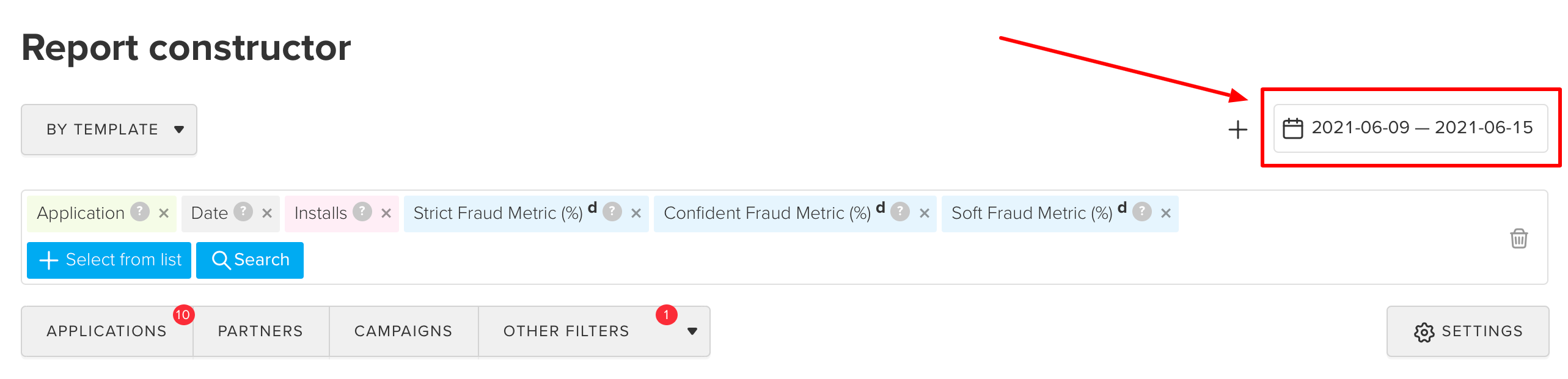 reporting period in fraud scanner