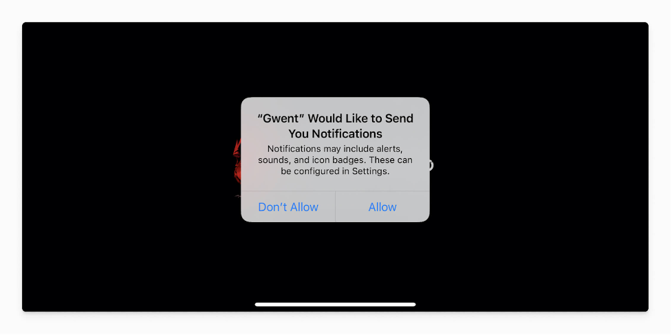 permission push notifications