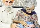 70-летняя женщина впервые стала мамой